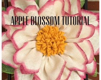 Apple Blossom Wreath Tutorial, Wreath Tutorial, DIY Wreath, Julie's Wreath Boutique Tutoria, Tutorial, DIY