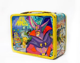 Vitnage 1979 Battle of the Planets metal lunch box, Thermos Sandy Frank Film King-Seeley G-Force Anime
