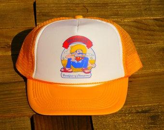 Vintage Menudo Breakfast of Champions Mexican Mesh Snapback Hat