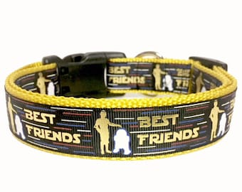 Star Wars Inspired, Best Friends - Droid, R2D2, Dog Collar - Fan - Dog Gift - Gift -
