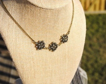 Vintage Sparkle Trio Necklace
