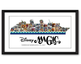 Disney Cruise Line Magic Wonder Fantasy Dream DCL Disneyland Fish Extender Inspired Custom Photo Collage Frame Digital Printable