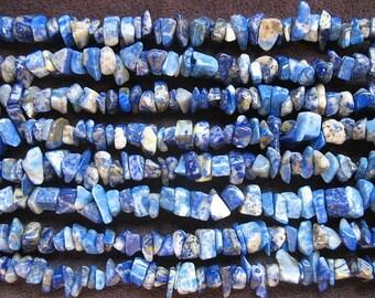 Lapis lazuli gemstone chip beads, gemstone chip beads