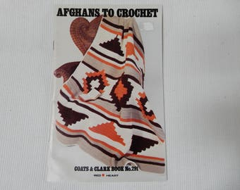Red Heart Afghans to Crochet,  Book 291