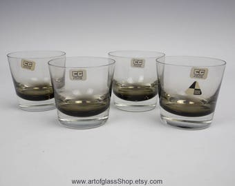 4 Caithness Glass tumblers