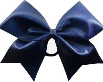 Navy Blue Mystique Cheer Bow