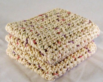 Tan Washcloth, Tan Cotton Spa Set, Tan Dishcloth, Tan Spa Cloths, Housewarming Gift