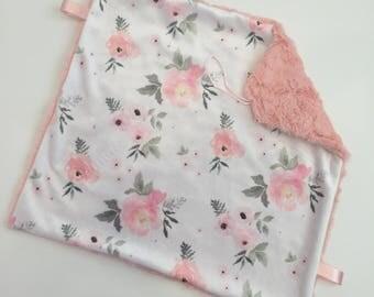 Floral Pink Lovey Blanket