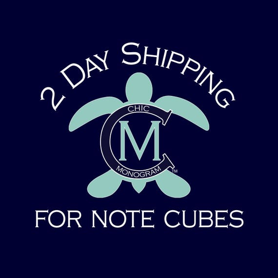 2 Day Shipping For Note Cubes