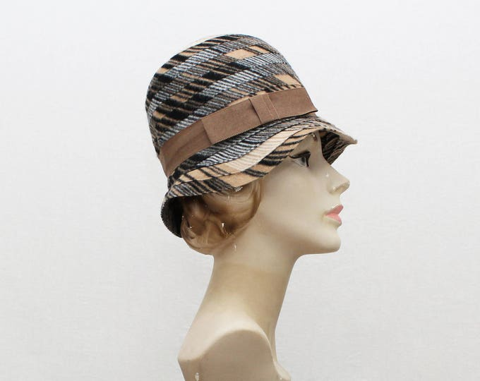 Vintage 1960s Union Made Wool Cloche