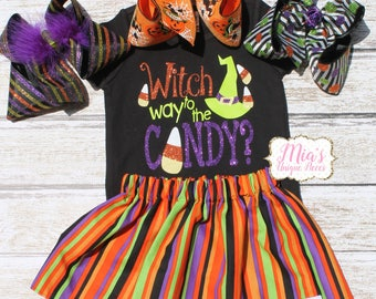 Halloween Toddler Skirt, Halloween Shirt