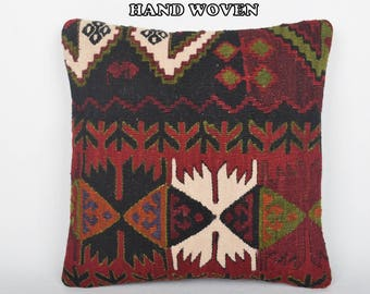 designing kilim pillow turkish cushion cover kilim rug pillow floor pillow case turkish pillow cover patio pillow cover pastel pillow D3742