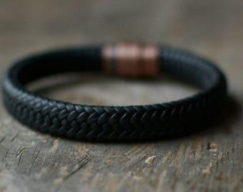 Mens Leather Bracelet, Leather bracelets, Men Jewelry, Gift for Him, Men bracelets, Tibetan Bracelet Men, Boho Men Bracelet, Tibetan Jewelry