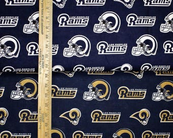 NFL Logo Los Angeles Rams Cotton Fabric by Fabric Traditions! 2 Options [Choose Your Cut Size]
