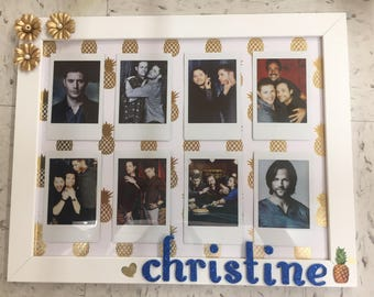 Personalized Frame! (Polaroid pictures included) Customize to your liking!