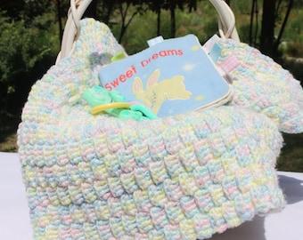 Rainbow Baby Blanket - Rainbow Crochet Baby Blanket - Crochet Pastel Baby Blanket - Textured Baby Blanket