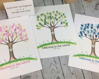 Thumbprint tree guestbook | wedding tree | fingerprint tree | custom guestbook | wedding fingerprint tree | guest book | christening day