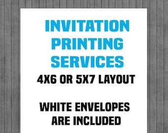 FLASH SALE Printed Invitations, Printing Service, Invitation Printing