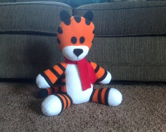 Hobbes plush toy! Large size! Soft  and huggable!  Adorable handmade plush Hobbes.