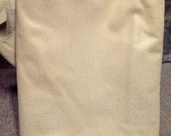 A78 Leather Cow Hide Cowhide Upholstery Craft Fabric Embossed Ivory White 48 sf  Free Shipping !!!