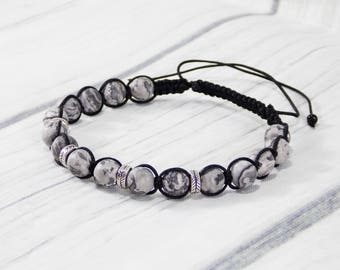 Gifts/for/brother gifts idea men bracelets Healing energy bracelet Men stone bracelet Yoga bead bracelet for him Macrame bracelets Boyfriend