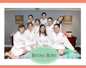 Monogram Waffle Robes - set of 15 | Wedding Robes | Personalized Bridesmaid Robes | Waffle Weave Robe | Bridal Party Gift