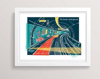 London Underground Print
