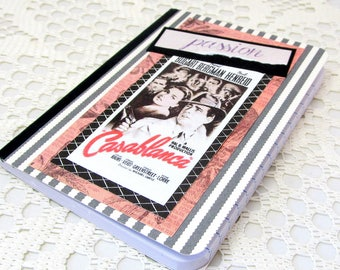 Vintage Film Journal - Classic Movie Notebook - Casablanca Movie Poster - Passion Mini Journal - Passion Mini Notebook - Classic Movie Lover