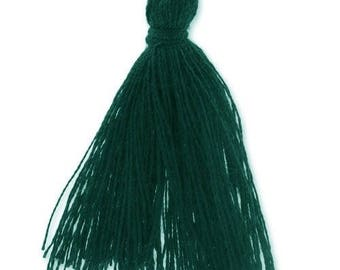 30mm Pine Green cotton tassel