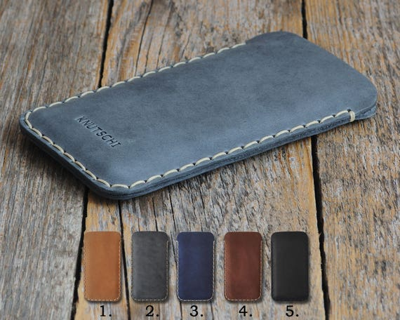 Essential Phone Leather Case PERSONALIZED Your Name Cover Simple Sleeve Vintage Rough Style