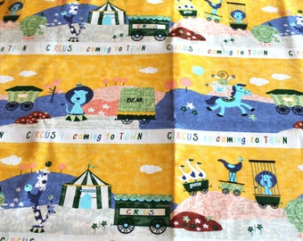 Coupon fabric animal circus 50 x 70 cm