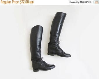 SALE Black Riding Boots // US Women's SIZE 6 Leather Riding Boots  // Vintage Women's Shoes