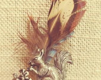 Vintage Bavarian Squirrel Hunter Pin