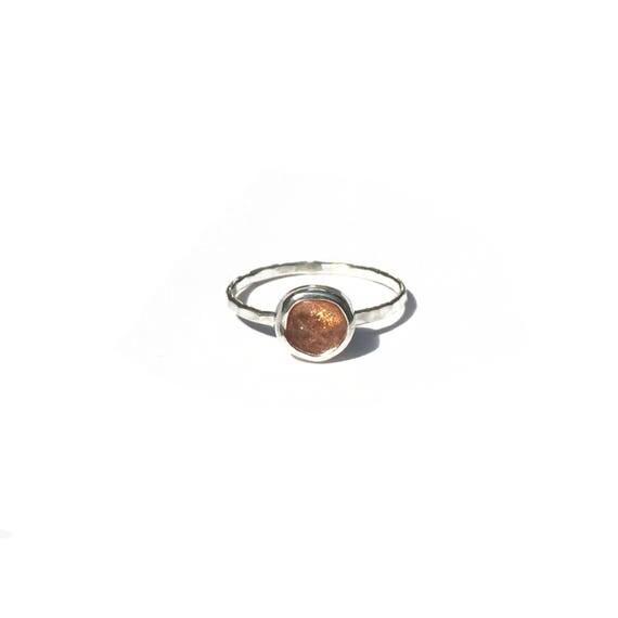 sunstone stacking ring, size 7.5