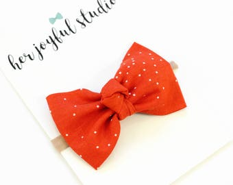 Red Christmas Bow Headband - Red Bow Headband - Baby Headband - Baby Girl Bow Headband - Infant Headband - Christmas Bow, Christmas Headband