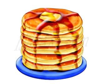 50% OFF Pancake Clipart, Pancake Clip art, Breakfast clipart, Digital, Illustration, Scrapbooking, Graphics, Food, Meals, 300 DPI, Instant D