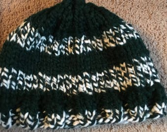 Intarsia warm winter beanie hats