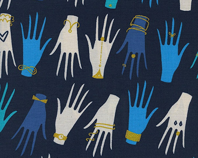 Manicure in Navy -Beauty Shop -Sarah Watts & Melody Miller for Cotton + Steel