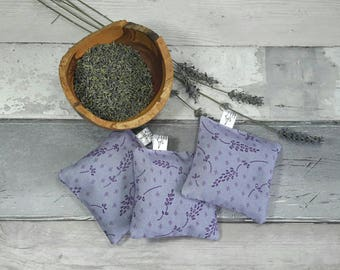 Lavender bag, sachet, pure dried lavender, Yorkshire lavender, purple, gift for her, mother's day, natural moth repellent, one bag