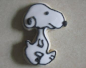 12 Snoopy Fan Art Hand Decorated Cookies