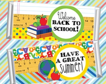 Teacher Gifts; End of the School Year Gifts; Back to School Gifts; Candy Bar Wrappers; Welcome Back; Elementary School printables; Teacher