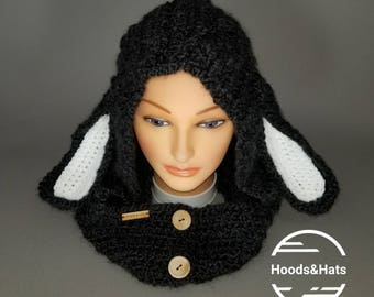 Black Sheep Halloween/Costume/Cosplay Festival/Winter Hood-toddler through adults