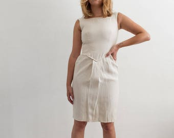 vintage 1980s valentino linen tailored dress XS/S