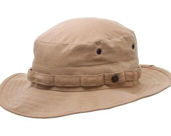 Safari Hiking Afghan Cotton Hat - beige