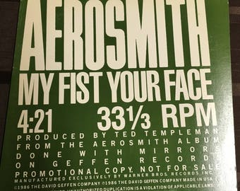 "Aerosmith 12"" Rare Promo Vinyl"