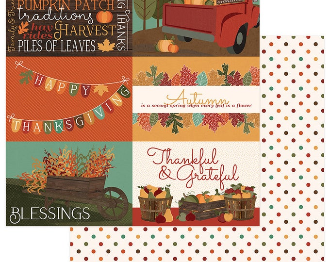 2 Sheets of Photo Play AUTUMN ORCHARD 12x12 Scrapbook Cardstock Paper - Blessed