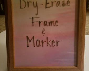 8 x 10 Dry Erase Frame & Marker