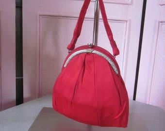 "1950s Red Silk Evening Bag by ""Garay"""