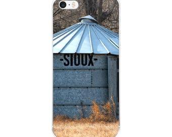 iPhone 5/5s/Se, 6/6s, 6/6s Plus Case - Red Silo Original Art - Sioux Bin