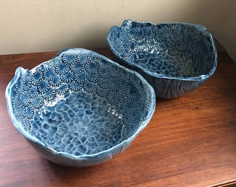 Poppy Soup/Serving Bowl Set - Dark Blue